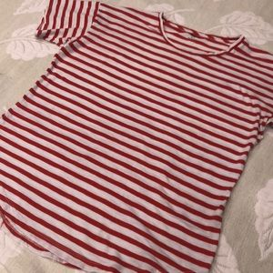 Madewell red striped tee